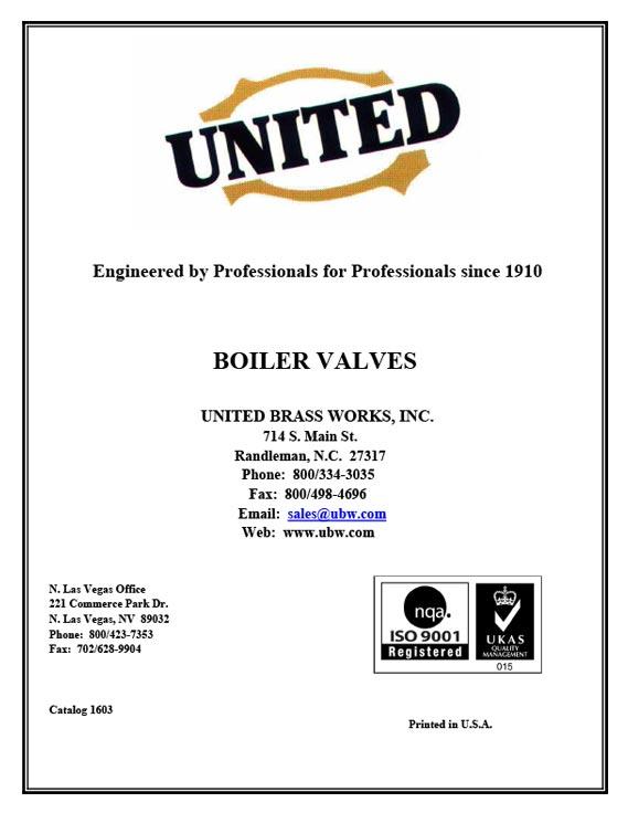 2016 Boiler Valve Catalog