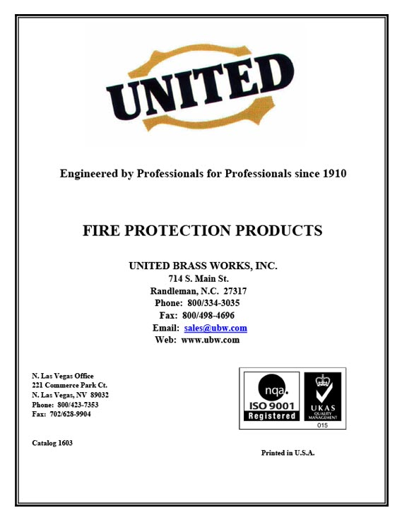 Fire Protection Product Catalog