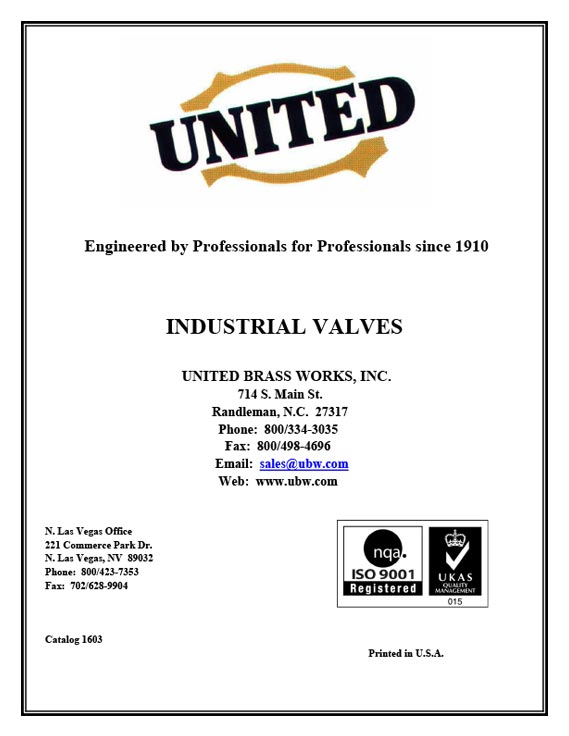 Industrial Valve Product Catalog
