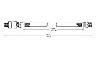Model TMU Series Stainless Steel Braided PTFE Hose