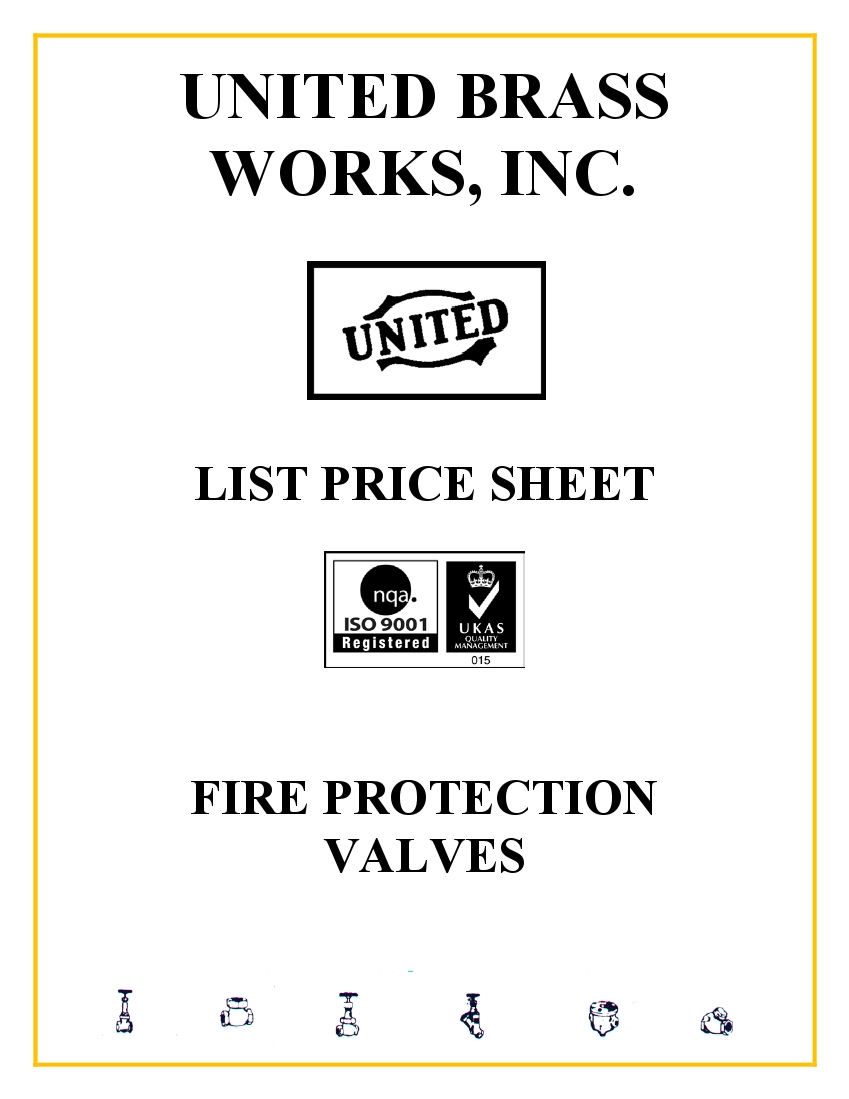 Fire Protection Parts List Price Sheet
